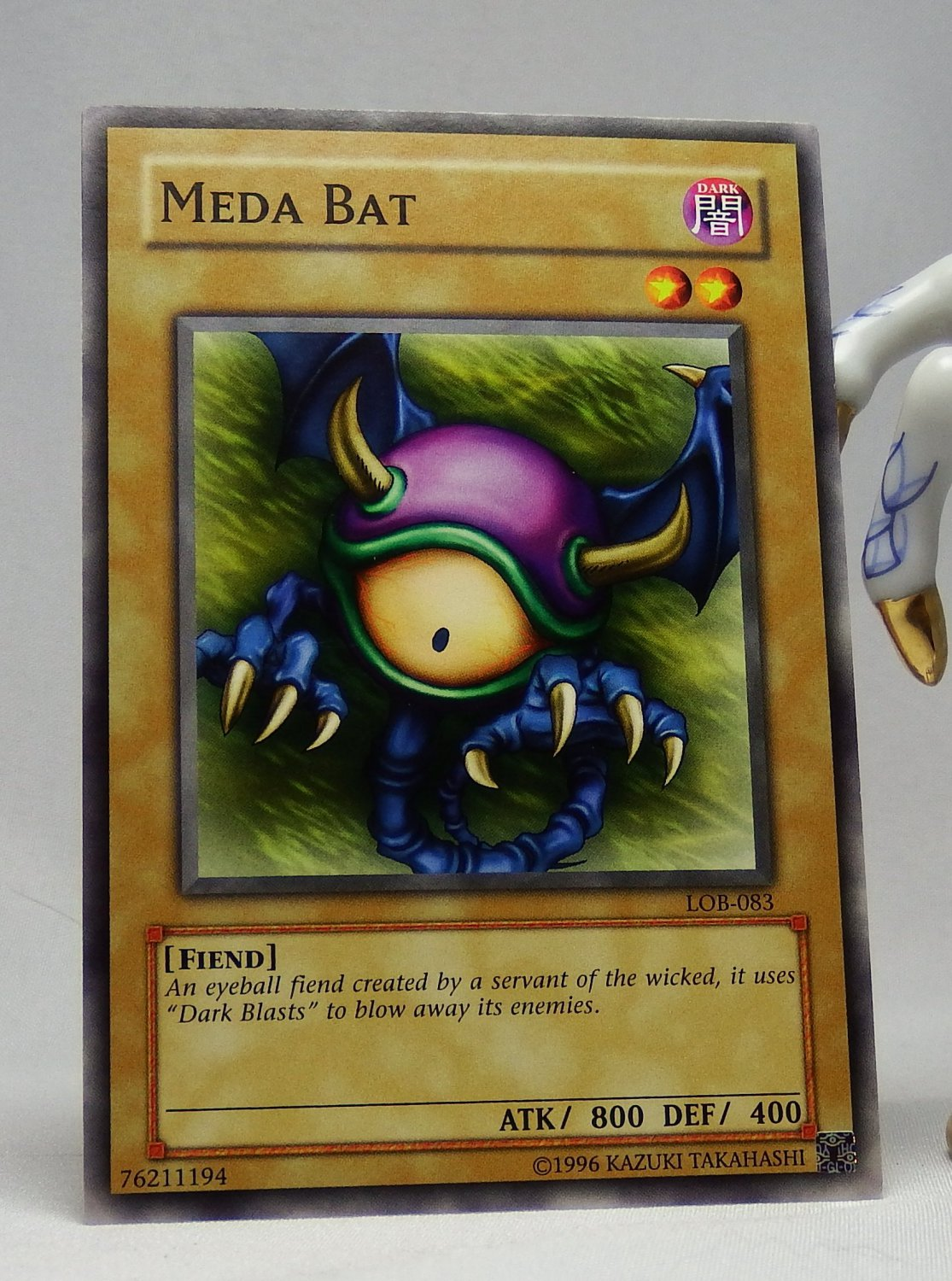 YuGiOh Legend of Blue Eyes White Dragon LOB-083 Meda Bat