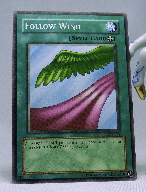 YuGiOh Legend of Blue Eyes White Dragon LOB-098 Follow Wind