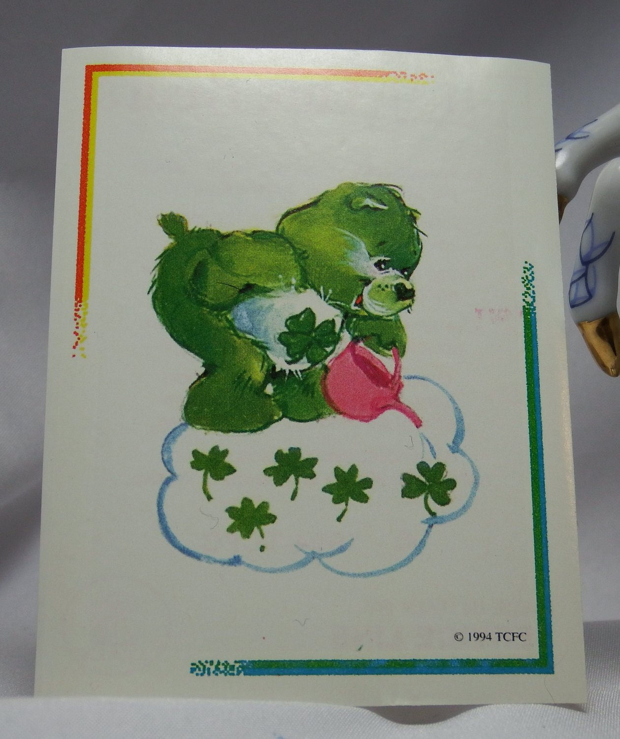 Care Bears 1994 Trading Sticker #11 - Good Luck Bear