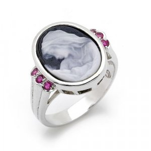 Beautiful Mother/Child Cameo Ring HOT SELLER
