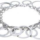 18K Gold Sterling Silver Circle Bracelet