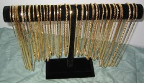 Lot of 100 Gold plated chains Various size