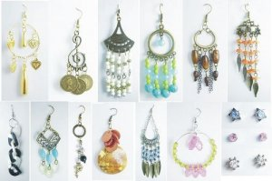1000 Pairs of Fashion Earrings with Color Beads LIQIDATION