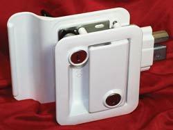 Fastec 43610-09-SP White Trimark RV Trailer Entry Deadbolt Lock