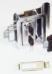 Fastec 43610-00-SP Chrome Trimark RV Trailer Entry Deadbolt Lock