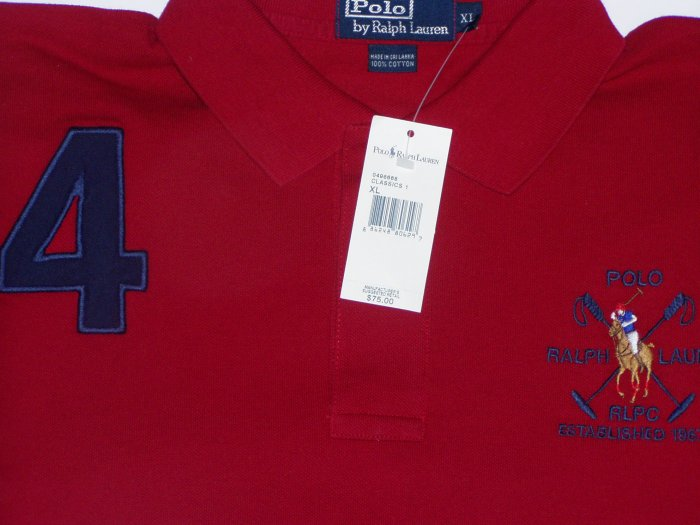 Polo Ralph Lauren Big Logo #4 Polo Shirt Size Medium
