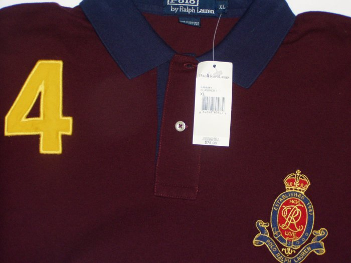 Polo Ralph Lauren Big Logo #4 Polo Shirt Size Large
