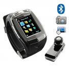 Quad Band Cell Phone Watch - Touch Screen + Bluetooth Watch