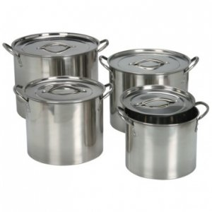 Stainless Steel 4 Piece Stock Pot Set