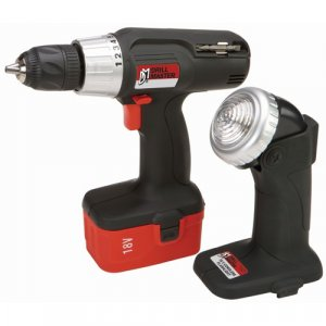 18 Volt Cordless Drill and Flashlight Kit