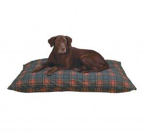 Plaid Dog Bed