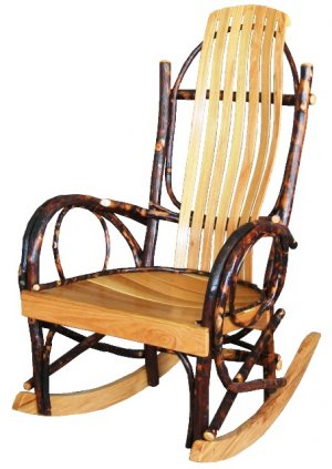 Amish Style Rustic Fireside Rocking Chair