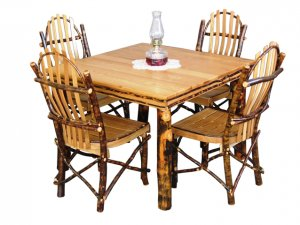 Rustic Dining Set (Includes Table & Four Chairs)