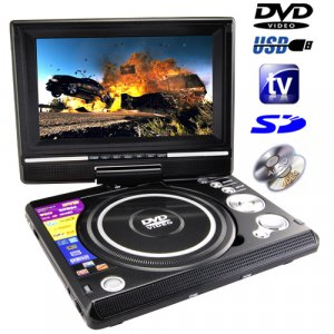 Portable Gaming/TV/DVD and Multimedia Player with 7 Inch Widescreen LCD