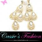 Gold facet chandelier