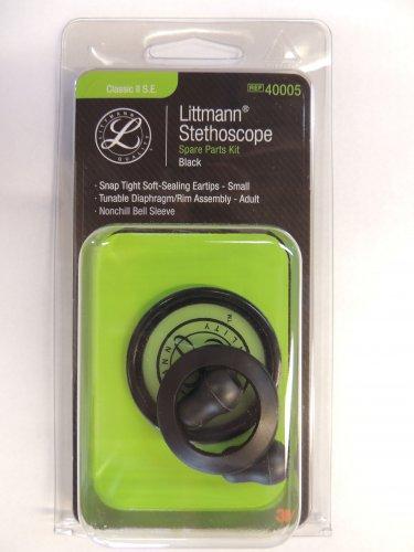 40005 3M LITTMANN Stethoscope Spare Parts Kit Classic II SE - Black