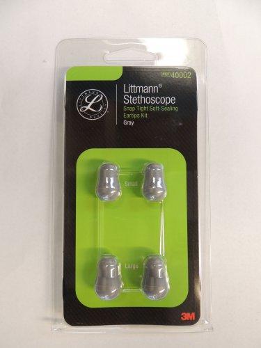 40002 3m LITTMANN Snaptight Soft-Sealing Eartips - SML + LRG / GRAY 2 PAIR