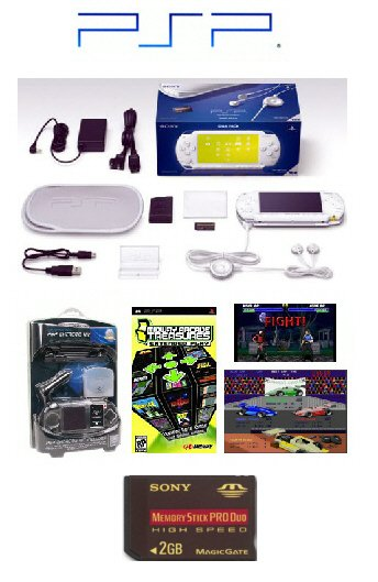 "Sony PSP Giga Pack ""Ceramic White"" with 2GB Memory Card"