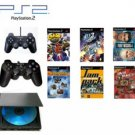 "Slim Sony Playstation 2 ""Basic Bundle"" - 30 Games with Wireless Controller"