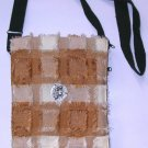 unusual fabric ,furry shoulder bag , womens crossbody purse , boho hippy hippie