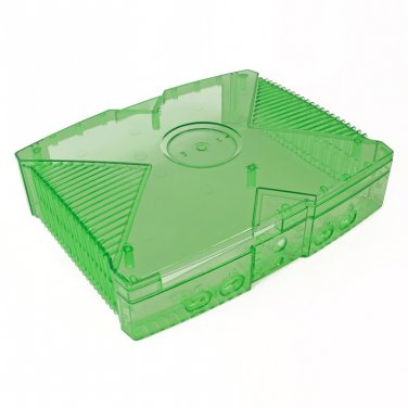 Green Clear Case Xbox XBMC media center xmugen UnleashX Modded