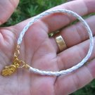 White Bracelet String golden Hamsa Kabbalah Charm luck