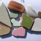 10 CERAMIC POTTERY MOSAICS BEACH SEA GLASS RM
