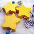 NEW WOOD STAR KEYCHAIN KEY RING CHAIN LEGNOMAGIA ITALY