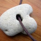 One of a Kind Genuine Beach Holey HOLE Stone Necklace
