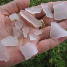 Genuine Sea Beach Glass WHITE Seaglass Jewlery Gems Zk