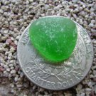 TINY small Genuine Beach Sea Glass Green  Jewelry Gems