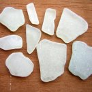 Genuine Sea Beach Glass WHITE seafoam Seaglass Jewlery