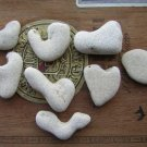 8 Natural Heart Stones Pebble Beach Sea LOVE Rocks