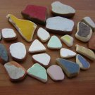 22 CERAMIC POTTERY MOSAIC  BEACH SEA GLASS colorful