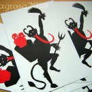 Set of 6 Krampus Christmas Postcards