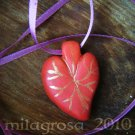 Red Heart Corazon Love Necklace