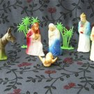 Vintage 1950's Plastic Nativity Set Made in the US 17pc