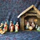 Vintage 9 Piece Nativity Set Made in Italy/ SOLD