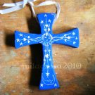 Terracotta Cross- Stars and Angel- Easter