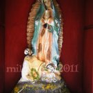 Our Lady of Guadalupe with San Juan Diego Antique Statue Nicho