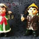 Pair of Lighted Musical Carolers - Carolites