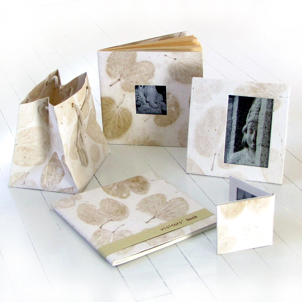 Wedding photo frames picture album gift bag guest book handmade white heart leaf paper