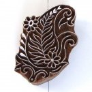 Stamping ink stamp large 4in paisley1 flowers handmade solid wood block stamp paper craft