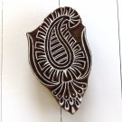 Stamping paisley 3 large 4in handmade solid wood block printing ink stamp paper crafts