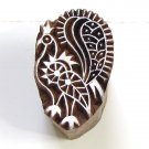 Stamping small 2in peacock handmade wood block printing ink stamps India
