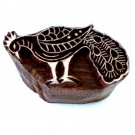 Peacock left stamping 2in handmade wood block paper crafts India