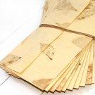 Handmade tree free stationery paper cream small leaf set 10 writing paper invitations Mom
