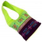 Bags hobo bag lime green gifts/brown 23x10x4.5 sequin embroidery detail 100% cotton