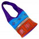 Bag purse fashion shoulder bags purple/blue/orange 100% cotton embroidery sequin 23x10x4.5