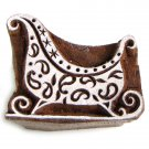 Stamping sleigh solid wood block ink stamp 2in handmade paper crafts India folk art